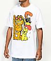 The Hundreds x Garfield Odie camiseta blanca