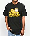 The Hundreds x Garfield Stack camiseta negra