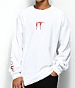 The Hundreds x IT Cast camiseta blanca de manga larga