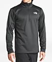 The North Face Glacier Quarter Zip Grey Tech Fleece Sweatshirt