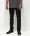 The Rising Sun Mfg. Co. Black Destructed Slim Fit Jeans
