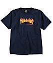 Thrasher Boys Flame Navy T-Shirt