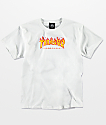 Thrasher Boys Flame White T-Shirt