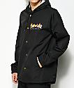 Thrasher Flame Magazine chaqueta entrenador con capucha en negro
