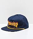Thrasher Flame Rope Navy Snapback Hat