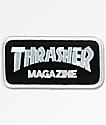 Thrasher Mag Logo Black & Silver Patch