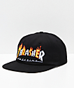 Thrasher Magazine Flame Logo Black Snapback Hat