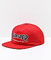 Thrasher Outlined Red Snapback Hat