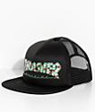Thrasher Roses Black Trucker Hat