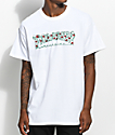 Thrasher Roses camiseta blanca