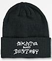 Thrasher Skate And Destroy Black Beanie