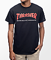Thrasher Skateboard Magazine Two Tone Black T-Shirt