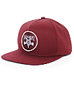 Thrasher Skategoat Patch Burgundy Snapback Hat