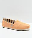 Toms Classic Venice zapatos en color naranja