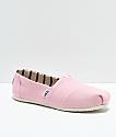 Toms Classic Venice zapatos en rosa claro