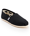 Toms Classics Canvas Black Slip-On Womens Shoes