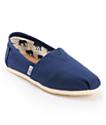 Toms Classics zapatos slip on de lona azul marino (mujer)