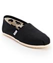 Toms Classics zapatos slip on de lona negro (mujer)