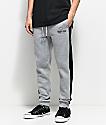 Traplord Paneled Grey & Black Sweatpants