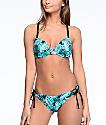 Trillium Bermuda Jungle bottom de bikini en negro y verde azulado