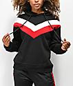 Trillium Black, Red & White Colorblock Hoodie