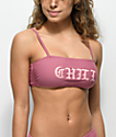 Trillium Chill Mauve Bandeau Bikini Top