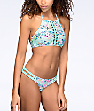 Trillium Fresh Melody Mint Braided Side Hipster Bikini Bottom