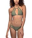 Trillium Keyhole Side Olive Bikini Bottom