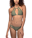 Trillium Keyhole Side bottom de bikini en color olivo