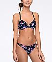Trillium Tropical bottom de bikini cheeky en negro