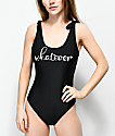 Trillium Whatever Black One Piece Swimsuit