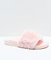Trillium sandalias de pelo sintético en rosa