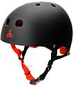 Triple Eight Black Rubber Sweatsaver Skateboard Helmet