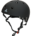 Triple Eight Dual Certified Black Rubber Skateboard Helmet