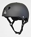 Triple Eight Mike Vallely Sweatsaver Matte Grey Skateboard Helmet