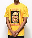 Trippy Burger Babes camiseta dorada