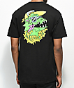 Trippy Burger Dragon Black T-Shirt