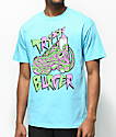 Trippy Burger Jelly Shoe camiseta en azul claro