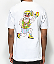 Trippy Burger Weights camiseta blanca