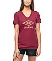 Umbro Athletic Burgundy Logo T-Shirt