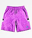 Umbro Tri-Checkered Purple Shorts