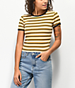 Unionbay Jones camiseta amarilla de rayas