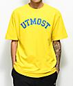 Utmost Co. Arc Logo Yellow T-Shirt