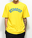 Utmost Co. Arc Logo camiseta amarilla