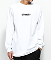 Utmost Co. Logo camiseta blanca de manga larga