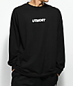 Utmost Co. Logo camiseta negra de manga larga