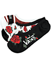 Vans 3 Pack Canoodle Red Roses No Show Socks