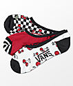 Vans 3 Pack Canoodle calcetines invisibles a cuadros con cerezas