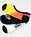 Vans 3 Pack Wing Tie Dye Canoodle calcetines invisibles