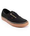 Vans Authentic Black & Gum Skate Shoes